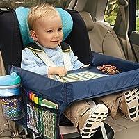 renxinu coche Bandeja para niños Kids Bandeja Portátil Bandeja Viaje juguete de los niños con superficie impermeable