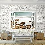 Fototapete Fenster zum Meer Vlies W...