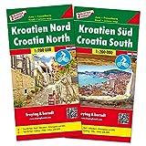 Kroatien Nord und Süd, Autokarten Set 1:200.000 (freytag & berndt Auto + Freizeitkarten) - Freytag-Berndt und Artaria KG