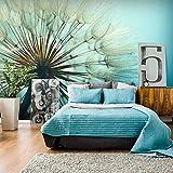 murando - Fototapete Pusteblumen 400x280 cm - Vlies Tapete - Moderne Wanddeko - Design Tapete - Wandtapete - Wand Dekoration - Natur Landschaft Blumen blau ombre Pusteblume b-B-0059-a-c