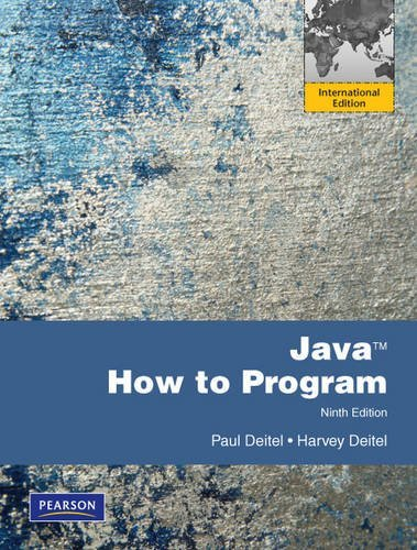 Java How to Program: International Version by Harvey Deitel (2011-05-19)