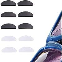 JZZJ 10 Paires Coussinets de Nez Adhésif Plaquettes de Nez en Silicone Antidérapant pour Lunettes Lunettes de Soleil…