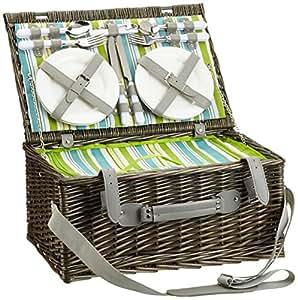 cilio 155266 picknick korb ascona 4 personen. Black Bedroom Furniture Sets. Home Design Ideas