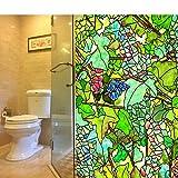 HAOLY Glas klar Aufkleber,Badezimmer Fenster Papier Toilette Fenster Papier Anti-Reflexion Aufkleber Für Schlafzimmer Studie Wohnzimmer-A 100x40cm(39x16inch)