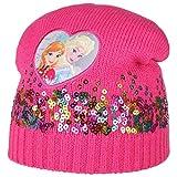Hutshopping ELSA und Anna Frozen Mütze mit Pailletten Kindermütze Mädchenmütze Wintermütze (One Size - pink)