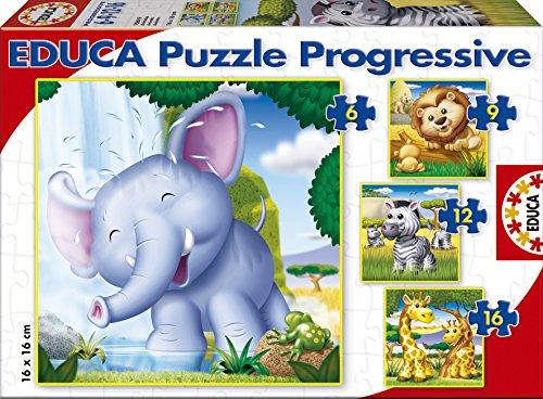 puzzles-educa-animales-salvajes-rompecabezas-progresivos-6-9-12-16-piezas-15619