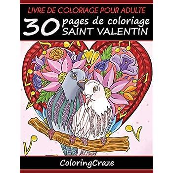 Livre de coloriage pour adulte: 30 pages de coloriage Saint Valentin, Série de livre de coloriage pour adulte par ColoringCraze