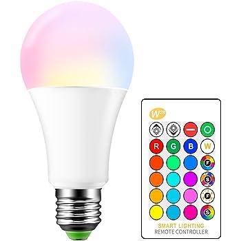 ONEVER - Bombilla LED RGB de 15 W, casquillo E27 RGBW, 16 opciones de