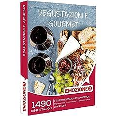 Idea Regalo - Emozione3 Cofanetto Regalo - DEGUSTAZIONI E GOURMET - 1490 esperienza gastronomica, Degustazioni di vino o di specialità tipiche