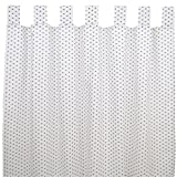 Sugarapple Dekoschal, Gardine, Vorhang (über 35 Farben wählbar) mit Schlaufen aus Baumwolle für Kinderzimmer und Babyzimmer. 2 Schals, Breite 143 cm, Länge 145 cm, Sterne Grau