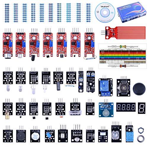 Quimat 39 Sensormodul, Starter Kit Roboterprojekt für Arduino UNOR3 Raspberry Pi 3 2 Mega Due Nano Arduino-Programmierung mit Tutorials (Lautsprecher Komponente Auto)
