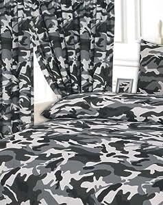bettbezug set king size gr e camouflage schwarz king size 50 baumwolle 50 polyester. Black Bedroom Furniture Sets. Home Design Ideas