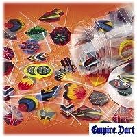 30x Plumas de Dardos (10 Juegos) de Diferentes Colores y Formas (5