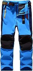 GGBaby [Kinder Softshellhose mit Fleecefütterung] Hose Wasserabweisend Winddicht Atmungsaktiv Warm Funktionshose Skihose Regenhose Jungen Mädchen Sporthose Wanderhose