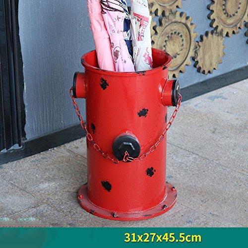 Schloss-loft (Retro Alten Regenschirm Eimer LOFT Feuer Hydrant Körbe Hause kreative Bar Ornamente Ornamente Regenschirm Regale Persönlichkeit kreative Stil schön und praktisch, Farbe: rot, Größe: 31 * 45.5cm)