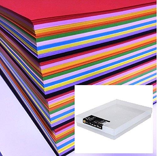 Dalton Manor A580g Farbiges Papier 1.000Stück in 10Farben, sortiert, Lieferung in einer transparenten Weston-Aufbewahrungsbox