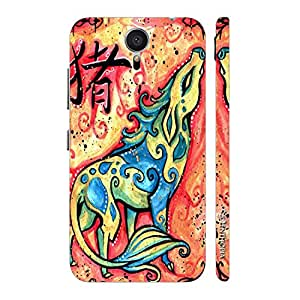 Enthopia Designer Hardshell Case CHINESE ZODIAC PIG Back Cover for Meizu M2 Note