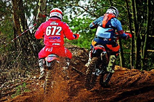 Wandbild 200x115cm MOTOCROSS Fototapete Poster XXL Tapete Rennen Sport Enduro WA54