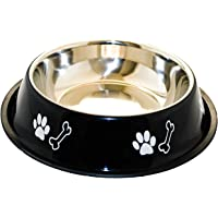 Sage Square Dog Stainless Steel Bowl with Anti Skid/Slip Rubber Base for Food and Water with Squeaky Pet Toy for Pets…
