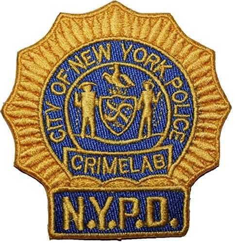 Eisen Auf Patch-new York (Wardah Limited C.S.I. City of New York Police Crime Lab New York Cops–NYPD bestickt abzeichen Patch Aufnäher oder zum Aufbügeln 9cm)