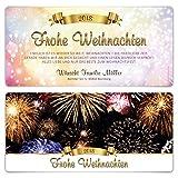 60 x Private Familien Weihnachtskarten - Silvester Feuerwerk