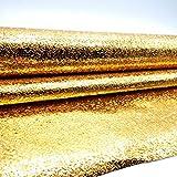 DooXoo 44x 200cm Küche PVC Aluminium Folie Self-adhensive Mosaik Aufkleber Öl Tapete Wand Aufkleber Badezimmer Spiegel Wasserdicht Wand Aufkleber (Gold)