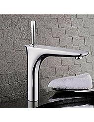 &QQ Todos los de cobre, agua caliente y fría, lavabo grifo