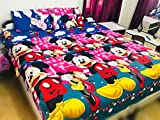#10: Singhs Kids Cartoon Double Bedsheet With 2 Pillow Covers