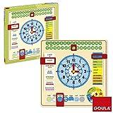 Goula - 51308 - Eveil - Horloge Calendrier - Jouet en Bois - Français