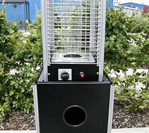 Heizpilz Heizstrahler Terrassenstrahler 'Optical Pro' schwarz matt: CE-zertifizierter Gasheizer mit elegantem Design robuster Stahl-Alu-Rahmen für stabilen Stand des Terrassenheizers Gesamthöhe 225 cm - 8