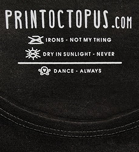 PrintOctopus Men's and Women's Cotton Hindi Quote Graphic Printed Round Neck T- Shirt (Black, Medium)