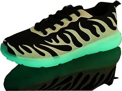 Meyison Unisex Lovers Blinkende Leuchtende Luminous Schuhe Sportschuhe mit Licht
