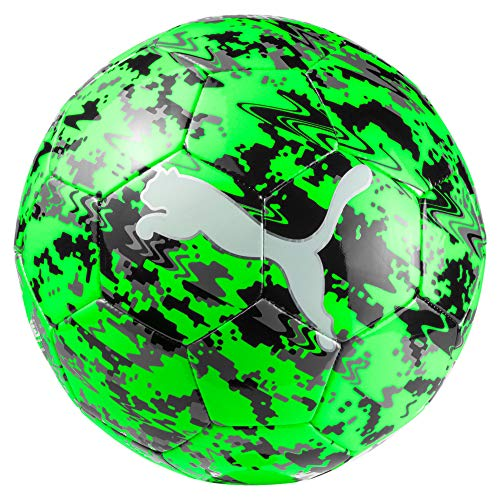 PUMA One Laser Ball Fußball, Green Gecko Black-Charcoal Gray, 5