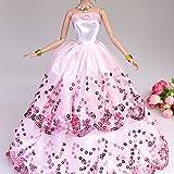 Creation® Le plus étonnant robe avec Paillettes faites pour adapter la poupée Barbie - Rose