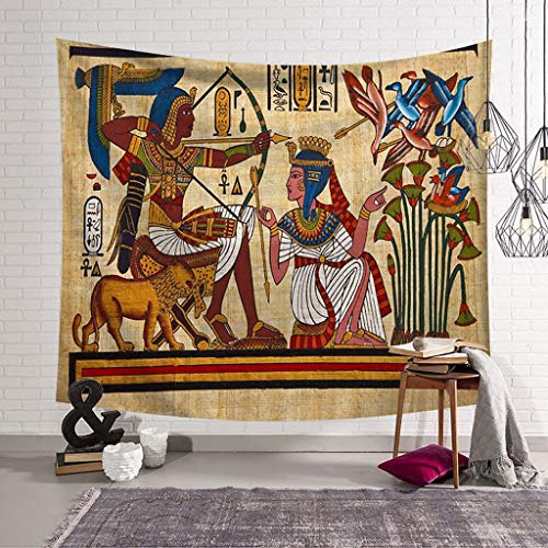 QYLOZ Alte ägyptische Tapisserie Art Home Wandbehang Alte ägyptische Kunst Polyester Stoff Gobelin Wohnzimmer Schlafzimmer Dekor (Color : B, Size : 150x130) -