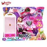 #9: Wembley Toys Barbie Like Model Doll With Cupboard, Dressing Table And Beauty and Vanity Accessories