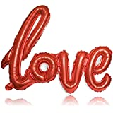 AKH? Love Letter Text Balloon | Foil 54x43 CM (21x17 Inches) with a Plastic Inflating Tube | Valentines Day Love Foil…