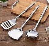 Utensili da cucina in acciaio INOX Lilacorp grandi dimensioni registri per fritto bistecca pala a manico lungo paletta forata spatola da cucina strumenti