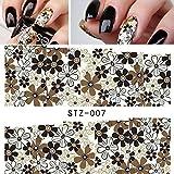 ACNails-Nagel Sticker Wasser Transfer Sticker Nailart Nagel Tattoos Nagelaufkleber Blumen Motive Full Cover -STZ07