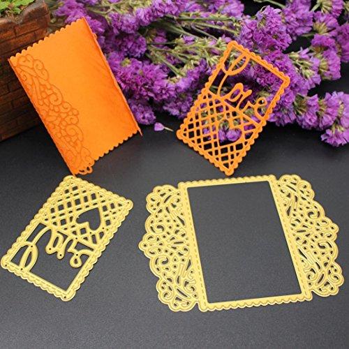 Upxiang 3D DIY Scrapbooking Prägewerkzeug, New Metal Cutting Dies Schablone, Album Papier Karte Handwerk (C) (Buchstaben Schablonen Für T-shirts)