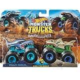 hot wheels Monster Trucks Demolition Doubles mega wrex vs Leopard Shark Giant Wheels