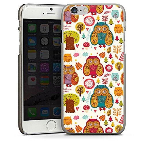 Apple iPhone 4 Housse Étui Silicone Coque Protection Hibous couleurs Forêt CasDur anthracite clair