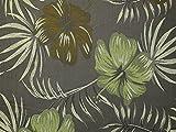 Minerva Crafts Groß Floral Gewebe der Brokat Kleid Olive