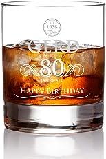AMAVEL Whiskyglas mit Gravur zum Geburtstag – Elegant – Personalisiert mit [Name] und [Alter] - Parent