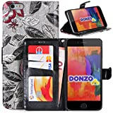 DONZO Wallet Flowers Custodia per Apple iPhone 6 Plus 6S Plus grigio