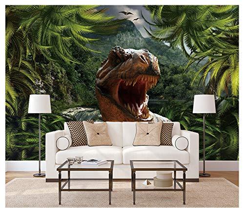 VVNASD 3D Dekorationen Wandbilder Aufkleber Tapete Wand Stereo Age Dinosaur Theme Kunst Kinder Schlafzimmer (W) 300X(H) 210Cm