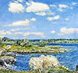 Das Museum Outlet - Mill Site und Old Todal Dam, Cos Cob, 1902, gespannte Leinwand Galerie verpackt. 29,7 x 41,9 cm
