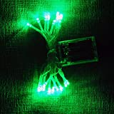 Batteriebetriebe LED-Lichterkette mit 20 LEDs, 2m, von Lightsgo®  grün