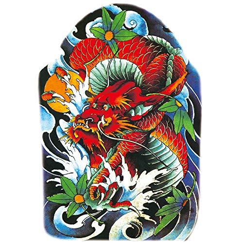 2Pcs-full zurück Tattoo Aufkleber großes Bild ganzen Rücken Tattoo Aufkleber Drachen Tiger Aufkleber Einweg Sticker Muster Amy tattoo2Pcs-32 (Disney-management)