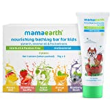 Mamaearth 100% Natural Berry Blast Toothpaste + Nourishing Bathing Bar Soap (Pack of 5)